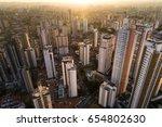 city skyline skyscrapers  ... | Shutterstock . vector #654802630