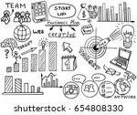 business doodles sketch set  ... | Shutterstock .eps vector #654808330