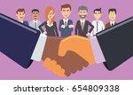 business handshake in front of... | Shutterstock .eps vector #654809338