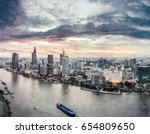 ho chi minh city  aerial view   ... | Shutterstock . vector #654809650