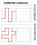 build the correct patterns.... | Shutterstock .eps vector #654812914