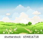 it's summer time. summer or... | Shutterstock .eps vector #654816718