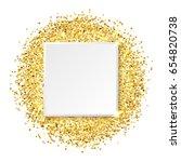 square glitter gold frame ...   Shutterstock .eps vector #654820738