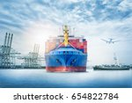 logistics and transportation of ... | Shutterstock . vector #654822784