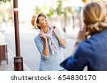 smiling couple with the camera | Shutterstock . vector #654830170