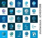 vector logo globe | Shutterstock .eps vector #654834388