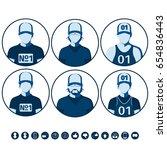 male and female avatars of...   Shutterstock .eps vector #654836443