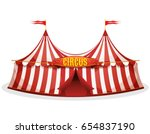 big top circus tent ... | Shutterstock .eps vector #654837190