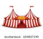 big top circus tent ... | Shutterstock .eps vector #654837190