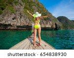 beautiful sexy woman  has... | Shutterstock . vector #654838930