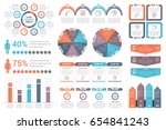 set of infographic element  ... | Shutterstock .eps vector #654841243