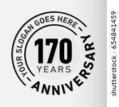 170 years anniversary logo... | Shutterstock .eps vector #654841459