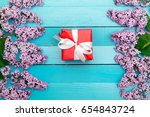 gift or surprise for the girl | Shutterstock . vector #654843724