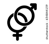 sex sign simple vector icon....   Shutterstock .eps vector #654844159