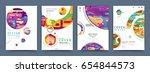 business abstract vector... | Shutterstock .eps vector #654844573