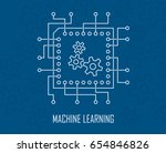 machine learning modern... | Shutterstock .eps vector #654846826