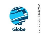 vector logo globe | Shutterstock .eps vector #654847168