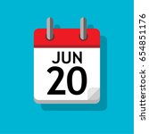 a single calendar page of june. ...   Shutterstock .eps vector #654851176