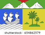 flag of saint denis is the... | Shutterstock .eps vector #654862579