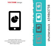 web line icon. smartphone with... | Shutterstock .eps vector #654863758