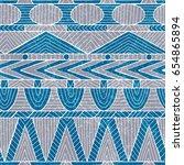 seamless tribal pattern. ethnic ... | Shutterstock .eps vector #654865894