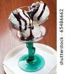 ice cream in a glass vase. | Shutterstock . vector #65486662