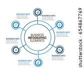 modern infographic paper...   Shutterstock .eps vector #654867769