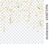 golden confetti and streamer... | Shutterstock .eps vector #654871996