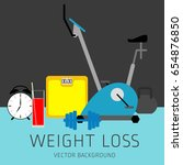 slimming concept  weight loss ... | Shutterstock .eps vector #654876850