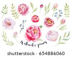 watercolor painting st of... | Shutterstock . vector #654886060