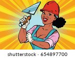 construction worker with... | Shutterstock .eps vector #654897700