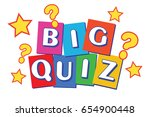 big quiz banner for all those...   Shutterstock .eps vector #654900448