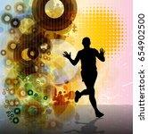 marathon runner  vector | Shutterstock .eps vector #654902500
