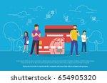 mobile banking concept... | Shutterstock .eps vector #654905320