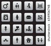 set of 16 editable kin icons....