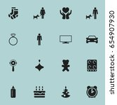 set of 16 editable kin icons....