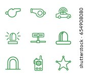 police icons set. set of 9... | Shutterstock .eps vector #654908080