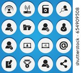 set of 16 editable global icons....