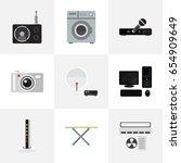set of 9 editable home icons....