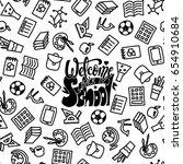 welcome back to school banner.... | Shutterstock .eps vector #654910684