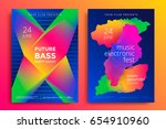 electronic music fest and... | Shutterstock .eps vector #654910960