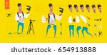 Stylized characters set for animation. Some parts of body | Shutterstock vector #654913888