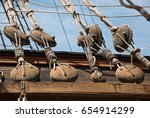 Part Of  Old Sail Ship Rigging...