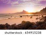romantic atmosphere in peaceful ... | Shutterstock . vector #654915238