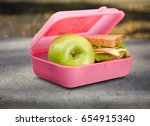 lunch box. | Shutterstock . vector #654915340