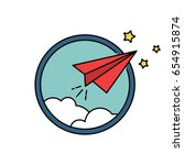 paper airplane vector retro...   Shutterstock .eps vector #654915874