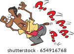 cartoon man running away from... | Shutterstock .eps vector #654916768