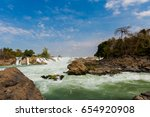 big khone phapheng waterfall  ... | Shutterstock . vector #654920908