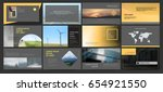 original presentation templates ... | Shutterstock .eps vector #654921550