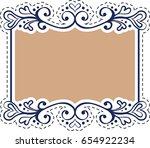 vintage sticker of hand drawn... | Shutterstock .eps vector #654922234